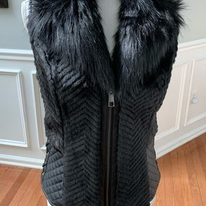 Guess fur and leather vest